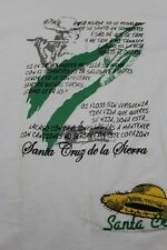 Santa Cruz de la Sierra white/green ringer t shirt Large