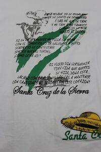 Santa Cruz de la Sierra white/green ringer t shirt Large