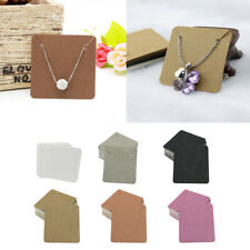 200x Earrings Necklace Paper Display Cards Holder Jewelry Package Tags White