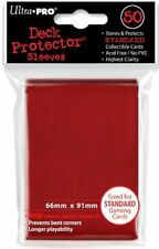 Ultra Pro 50 Pouches Deck Protector Sleeves Red Card Standard 66x91mm 26727