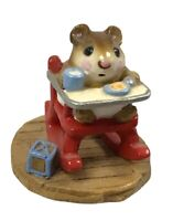 Wee Forest Folk M-103 Rocking Mouse Tot 1983 Mice Collectible