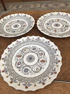 """3 Spode Florence Copeland England Dinner Plates 10 1/2"""""""