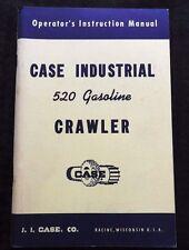Rare Case 520 Industrial Gasoline Crawler Tractor Operators Manual Nos Near Mint