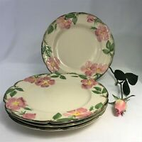 "Franciscan Earthenware DESERT ROSE 10 1/2"" DINNER PLATES Made In USA"