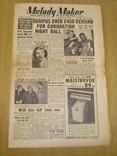 MELODY MAKER 1953 FEBRUARY 14 DIZZY GILLESPIE SARAH VAUGHAN CORONATION NIGHT
