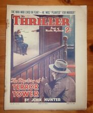 THE THRILLER No 375 Vol 14 11TH APRIL 1936 THE MYSTERY OF TERROR TOWER ,J HUNTER