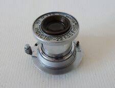 Industar-22 Moskva 1948 50mm f/3.5 Leitz Elmar Soviet Copy Lens M39 Zorki Leica