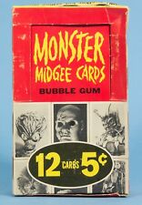 MONSTER MIDGEES GUM CARD BOX Original Topps 1963 rare Monster Laffs AIP