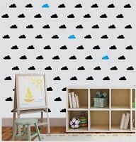 Clouds Wall Art Stickers Removable Kids Nursery Vinyl  Decor  Set of 36