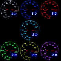 """Car Turbo Boost Gauge 2"""" 52mm 7 Colors LED PSI Meter Analog Digital Display HOT"""