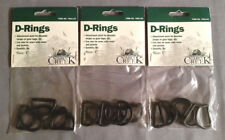"Cabin Creek 7001-Cc Three packs of (6) 1"" D-Rings, Kayaking, Hunting, Fishing"