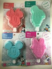 DISNEY Silicone Popsicle Makers - Mickey, Minnie, Donald, Daisy -Ice Block Molds