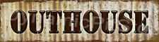 30x8cm Outhouse Rustic Tin Door Sign or Decal