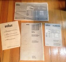 Braun Multimix M800 M810 M850 M870 M880 M890 Owner's Manual Use Care & Recipes +