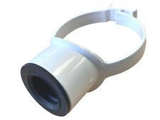 "White Soil Pipe 110mm 40mm 43mm Boss Clip Strap Boss 1 1/2"" Pushfit Adaptor"
