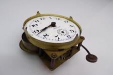 Vintage  E. Ingraham Brass Mantle Alarm Clock Movement Porcelain Dial  E296c