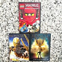 Lego Bionicle Lot of 3 DVD's