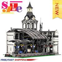 MOC-37719 Modular Train Station Building Blocks Good Building Blocks Toys
