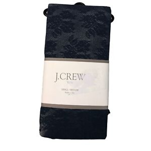 NEW J. Crew Size Small/Medium Lace Floral Tights Navy Blue #51368