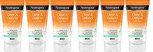 Neutrogena Clear & Defend Wash Mask, Oil Free, 5.07 Oz (6 Pack)