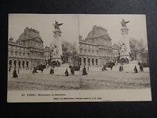 "CARTE POSTALE STEREO CARTE ""EN 1900"" PARIS MONUMENT DE GAMBETTA"