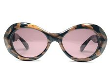7860332ae469 NEW VINTAGE LAURA BIAGIOTTI OVAL CAMOUFLAGE BROWN LENSES SUNGLASSES 90 S  ITALY