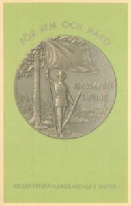 1930s Shooting Marksman Medal Murray Sweden Postcard 21-3473