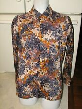 1970's Disco Leisure shirt Men's Large Bond's Knit Collection brand abstract
