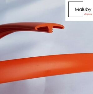 15mm Orange T Trim Double Lipped 20 Metre Knock on Edging for Furniture Board