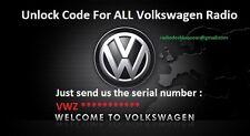 Vw Code Volkswagen Radio Unlock Rcd 200 210 2150Gamma Beta  # Fast Code #Not Nav