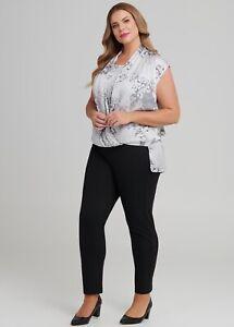 T.S.(Taking Shape) Women's Plus Size 24 Ist Impressions Satin Feel Grey Drop hem