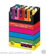 uni Posca Marker Pen 15 Colors Set 1.8-2.5mm PC-5M Paint Draw