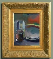 JOSE TRUJILLO FRAMED EXPRESSIONIST OIL PAINTING GLASS MODERN CONTEMPORARY ART