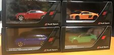 4x Audi Weihnachtsmodell 1:43 • R8 • RS3 • RS4 • RS5 2015 • 2016 • 2017 • 2018