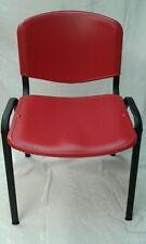 Sedia da Ufficio in PVC Fissa da Conferenza NUOVA Sala Attesa Riunione Convegni