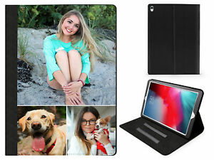 Personalised Custom Photo iPad Leather Flip Case Cover for Apple iPads Any Photo