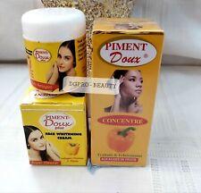 PIMENT DOUX SERUM & FACE CREAM WITH FRUIT ACIDS FOR WHITENING SKIN.💯% ORIGINAL