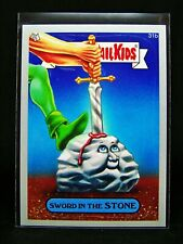 GARBAGE PAIL KIDS 2014 Series 1 SILVER Parallel Card 31b Sword in the Stone 14S1