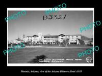 OLD POSTCARD SIZE PHOTO OF PHOENIX ARIZONA VIEW OF THE BILTMORE HOTEL c1935