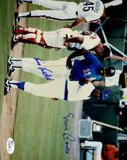 ERNIE BANKS ELLIS VALENTINE SIGNED ORIGINAL 1/1 IMAGE 8x10 PHOTO JSA AUTOGRAPH