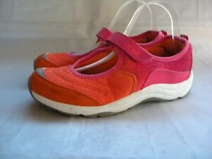 Vionic 334 Sunset Orange & Pink Mary Jane Sneakers Orthopedic Flats Size 8.5