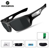 ROCKBROS Polarized Glasses Full Frame Cycling Fishing Sunglasses Goggles Black