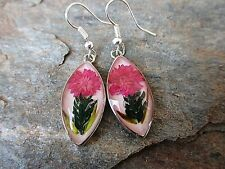 Nahua Real Flower Earrings Made in Mexico by Artesanas Campesinas FairTrade fp1