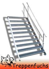 10 Stufen Stahltreppe mit einseitig. Geländer Breite 70 cm  Geschosshöhe 150-200