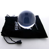 Clear UV Translucent Acrylic contact Juggling ball 50mm 85g + Protective Pouch
