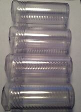 Plastic Pvc Storage Tube Container Twist Coin Tooling Case Holder Clear X4
