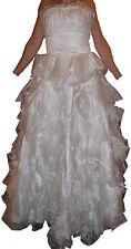 Robe de mariée en voile Satin perles Marque KIMBERLEY JET 7 NAILS Taille:36 Neuv