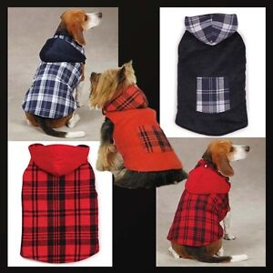 Dog Woodland Corduroy  Coat Jacket Reversible Red Blue XXS XS S M L XL SM