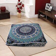 Indian Mandala Square Cushion Case Bohemian Pillow Boho Hippie Floor Pillow Pouf