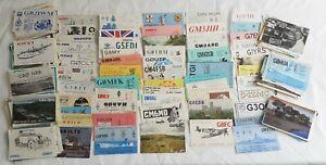 Amateur Radio Job Lot of 220 x QSL Cards c 1980 -1990 UK Ham